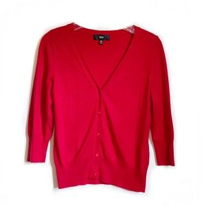 Mossimo Red 3/4 Length Sleeve Cardigan